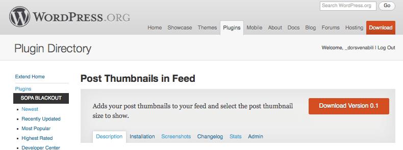 Nuevo plugin Post Thumbnails in FeedNew plugin Post Thumbnails in Feed